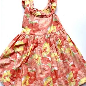 Janie And Jack Coral Floral Dress